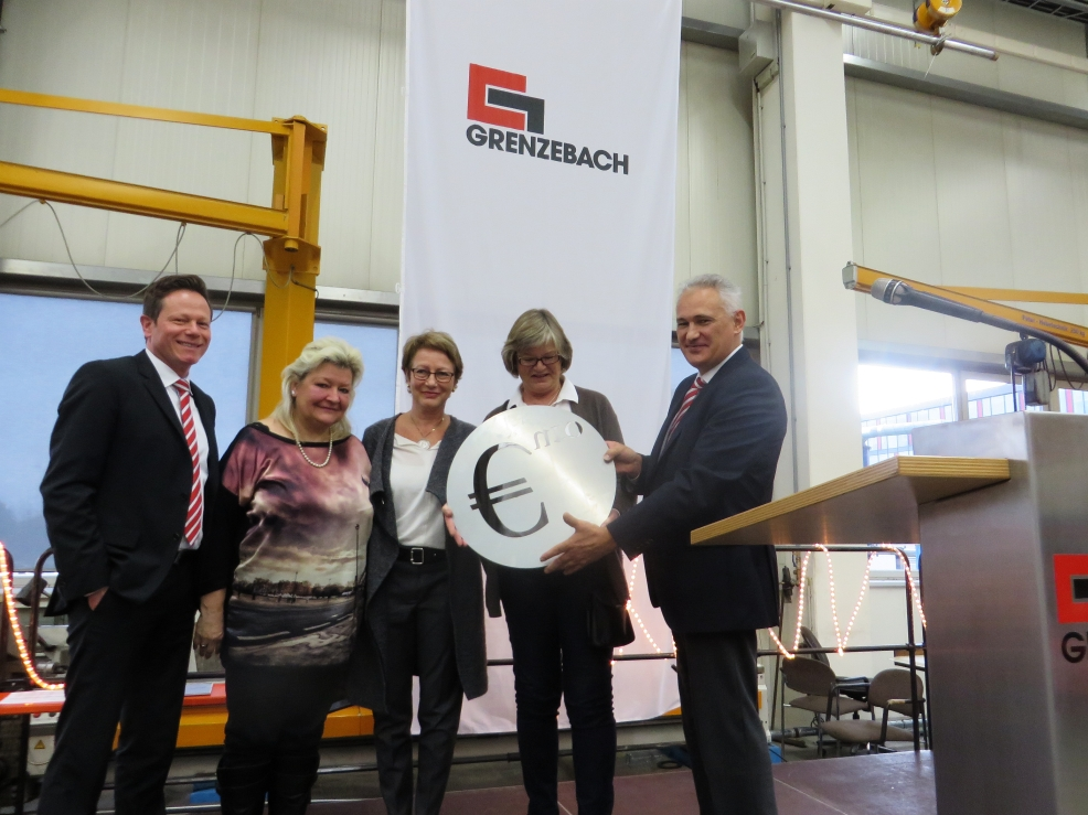 Spendenübergabe Grenzebach